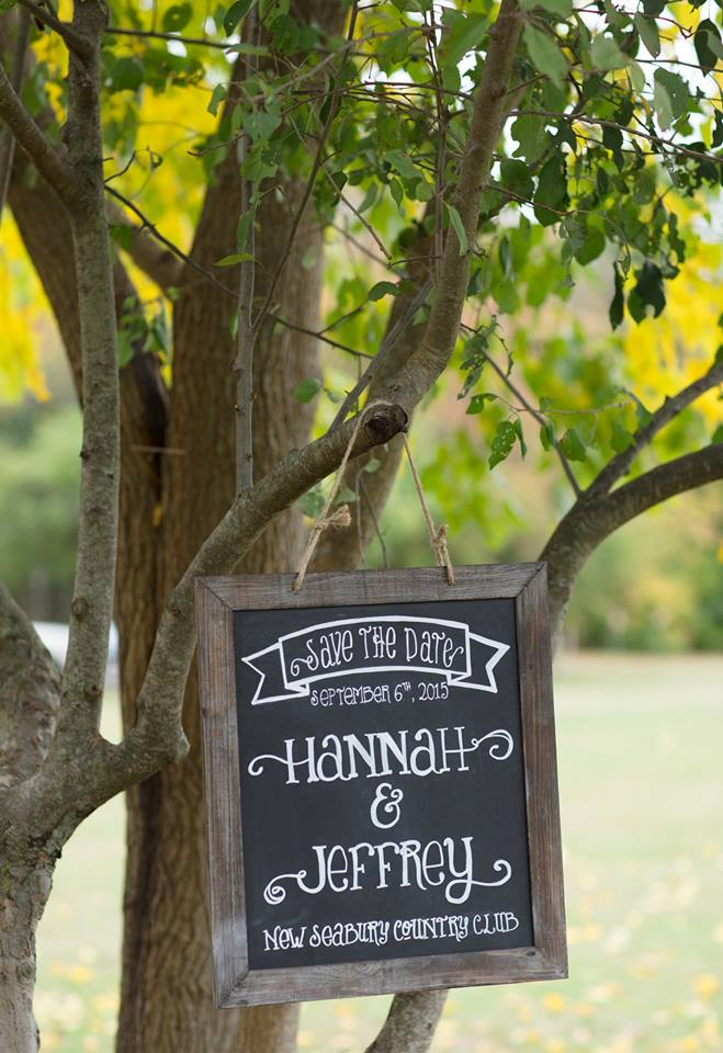 Fall Chalkboard Save The Date