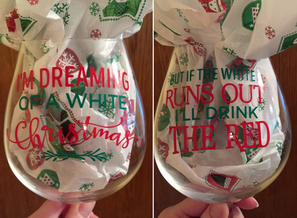 Dreaming of a White Christmas Wine Glass