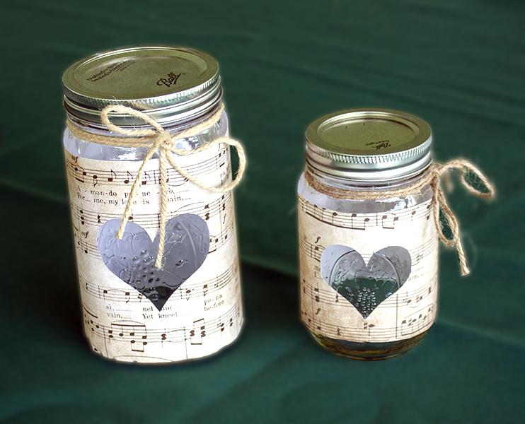 Music Note Mason Jar Centerpieces