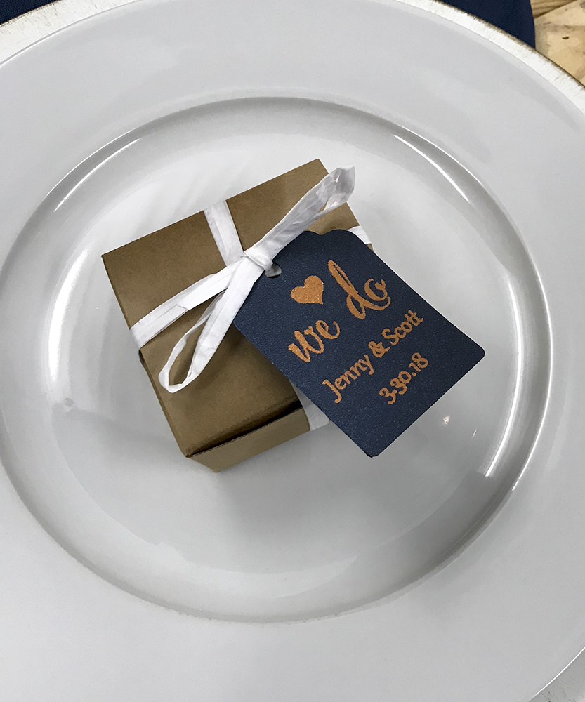 Copper Foil Favor Tag