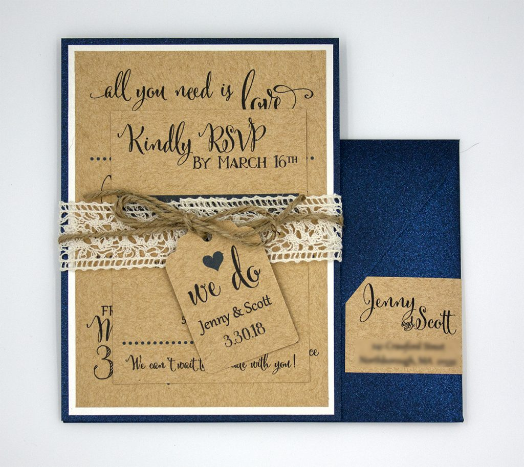 Scott & Jenny Assembled Invitation