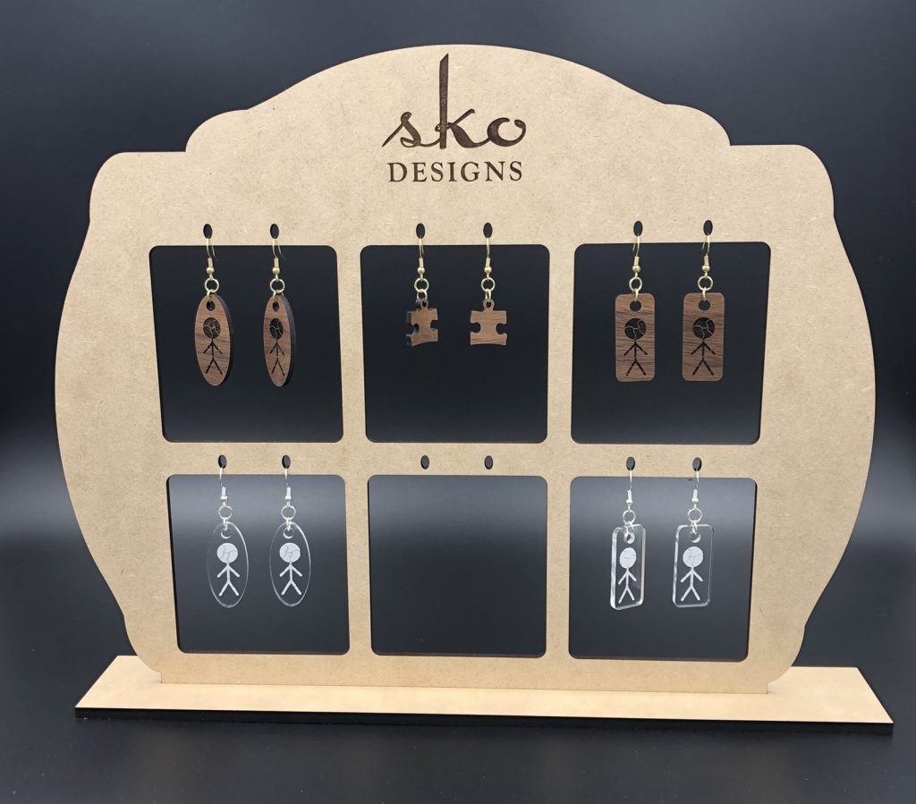 Earring Display Laser Cut & Engraved