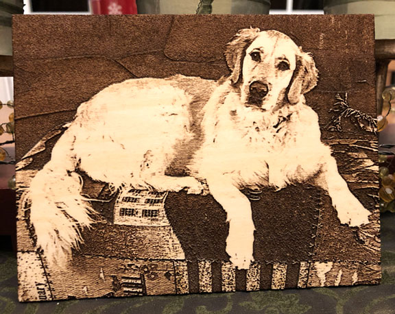 Photo Engrave Golden Retriever