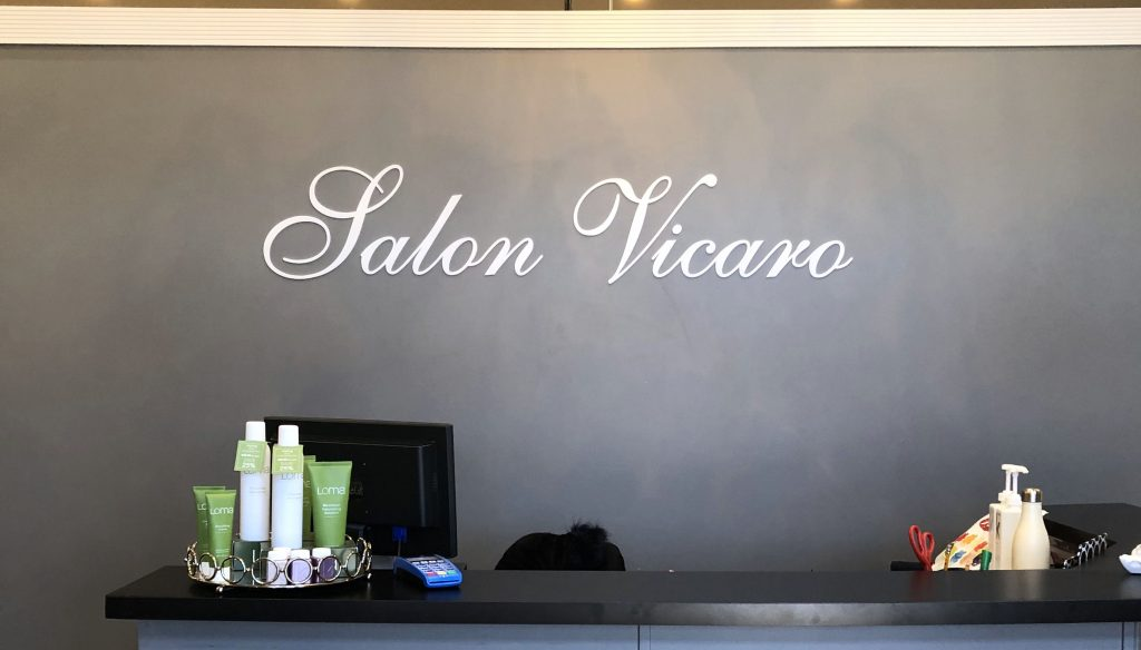 Laser Cut Salon Vicaro in Matte White Acrylic